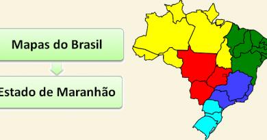 Mapa do Estado do Maranhão Brasil vestibular1