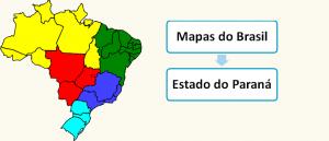 Mapa do Estado do Paraná Brasil Vestibular1