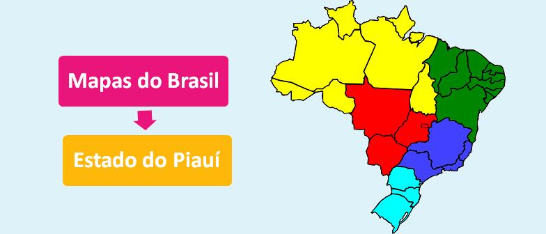 Mapa do Estado do Piauí Brasil vestibular1
