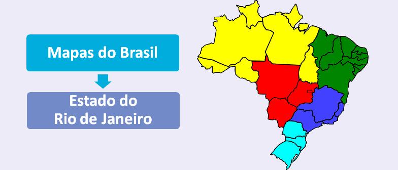 Mapa do Estado do Rio de Janeiro Brasil Vestibular1