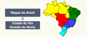 Mapa do Estado do Rio Grande do Norte Brasil Vestibular1