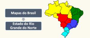 Mapa do Estado do Rio Grande do Norte Brasil Vestibular1