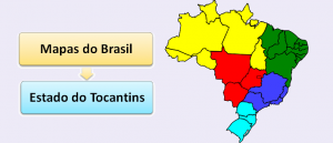 Mapa do Estado do Tocantins Brasil Vestibular1