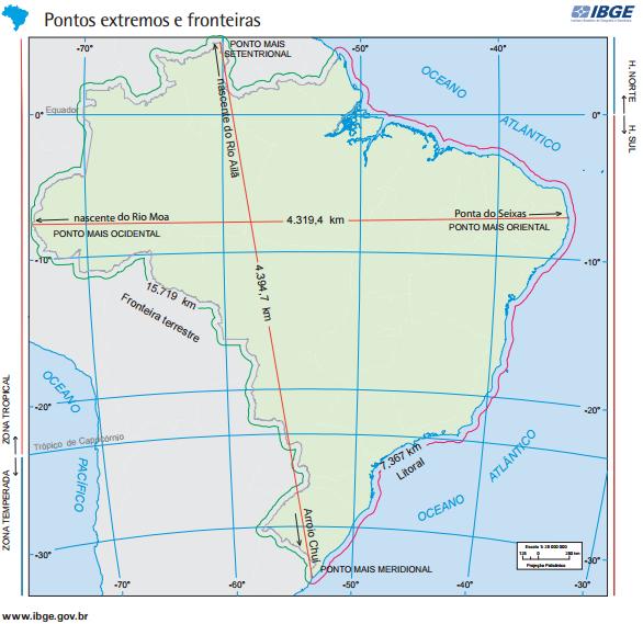 Pontos extremos e fronteiras do Brasil Vestibular1