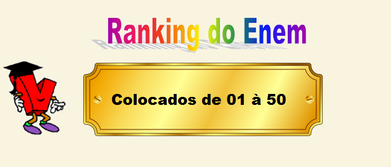 Ranking do Enem Colocados de 01 à 50 por Vestibular1
