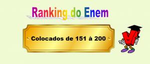 Ranking do Enem Colocados de 151 à 200 por Vestibular1
