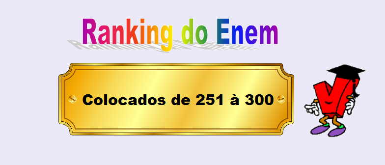 Ranking do Enem Colocados de 251 à 300 por Vestibular1