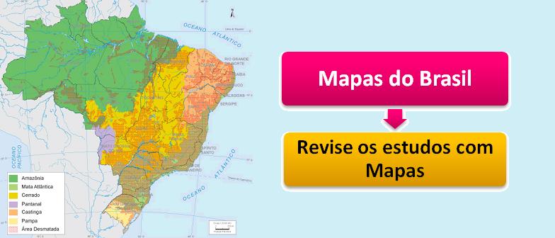 Revise os estudos com Mapas do Brasil com Vestibular1