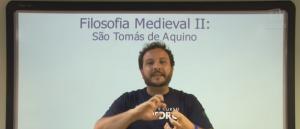 Vídeo Curso de Filosofia Aula 11 Filosofia Medieval São Tomás de Aquino