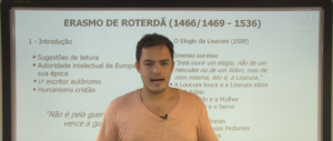 Vídeo Curso de Filosofia Aula 14 Erasmo de Roterdã