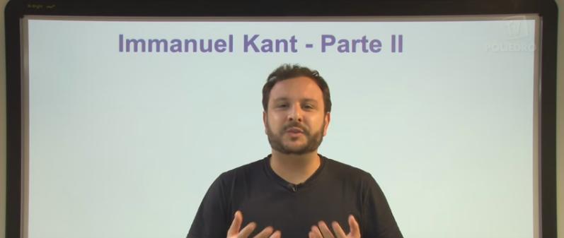 Vídeo Curso de Filosofia Aula 24 Immanuel Kant Parte II