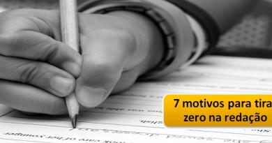 7 motivos para tirar zero na redação por Vestibular1