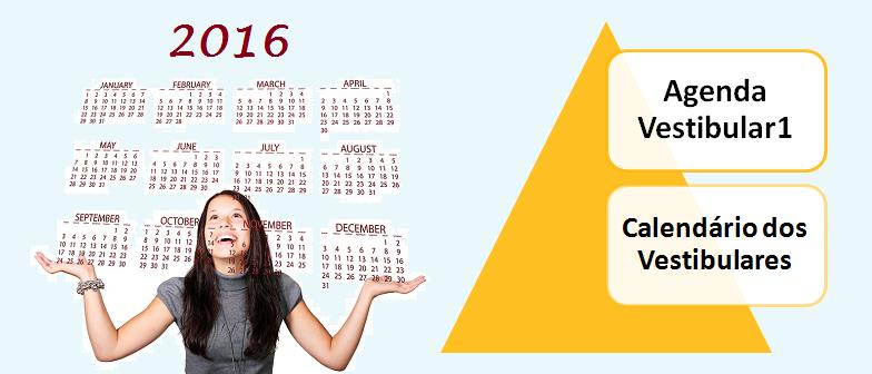 Calendário e Agenda de Vestibular 2016 vestibular1