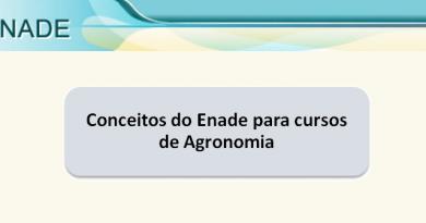 Conceitos do Enade para cursos de Agronomia Vestibular1