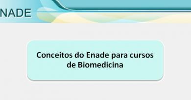 Conceitos do Enade para cursos de Biomedicina Vestibular1