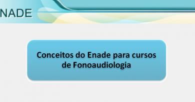 Conceitos do Enade para cursos de Fonoaudiologia Vestibular1