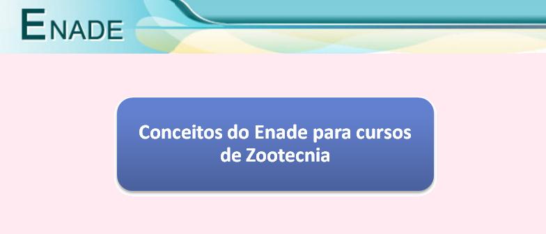 Conceitos do Enade para cursos de Zootecnia Vestibular1