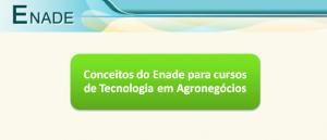 Conceitos do Enade Tecnologia em Agronegócios Vestibular1