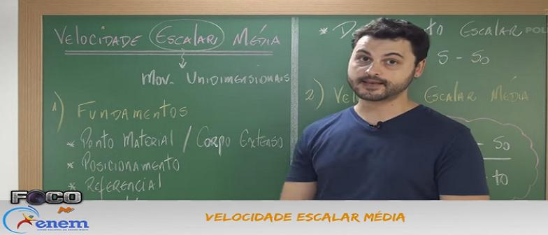 Física Vídeo Aula 06 Velocidade Escalar Média. Vestibular