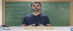 Física Vídeo Aula 07 Movimento Retilíneo Uniforme. Vestibular1