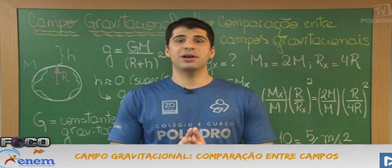 Física Vídeo Aula 18 Comparação entre Campos Gravitacional. Enem