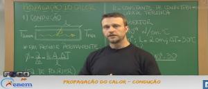 Física Vídeo Aula 23 Propagação do Calor Condução. Vestibular1