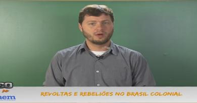 História Vídeo Aula 18 Revoltas e Rebeliões no Brasil Colonial. Vestibular1