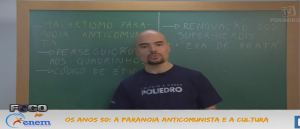História Vídeo Aula 4 Os anos 50 A paranoia anticomunista. Provas