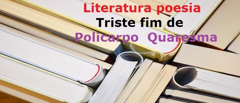Literatura poesia Triste fim de Policarpo Quaresma Vestibular1