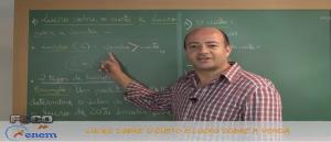 Matemática Vídeo Aula 11 Lucro sobre o custo e a venda. Vestibular
