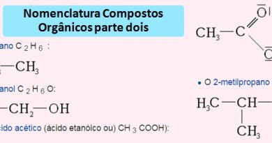 Nomenclatura Compostos Orgânicos parte dois