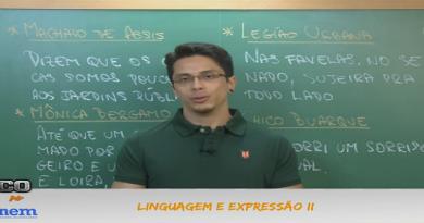 Português Vídeo Aula 04 Linguagem e Expressão II. Vestibular1