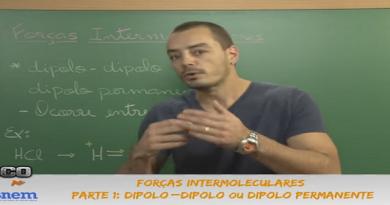 Química Vídeo Aula 01 Forças Intermoleculares Parte 1 Dipolo permanente. Vestibular