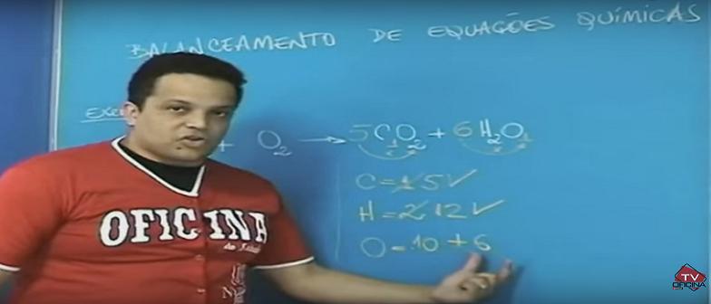 Vídeo Aula Química Balanceamento de Equações Químicas. Vestibulares