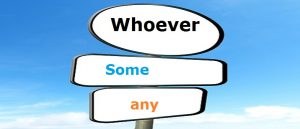 Inglês: Whoever... Some e any Vestibular1
