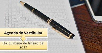 Vestibular 2017 1a. quinzena de Janeiro de 2017 Vestibular1