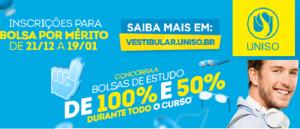 Vestibular Bolsa por Mérito da Uniso Vestibular1