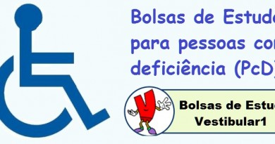 Bolsas de Estudos para pessoas com deficiência (PcD) Vestibular1