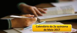 Agenda da 2a quinzena de Maio de 2017 Vestibular1