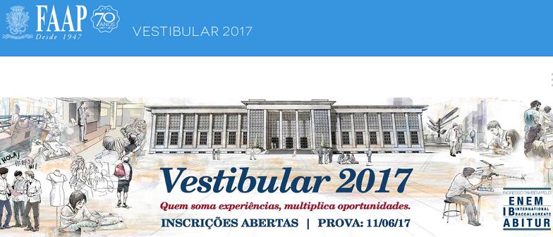 Vestibular da FAAP 2017 abre inscrições vestibular1