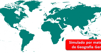 Simulado por matéria de Geografia Geral Vestibular1