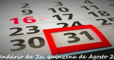 Calendário da 2a quinzena de Agosto 2017 Vestibular1