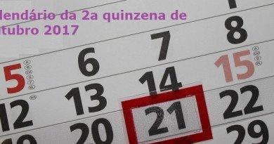 Calendário da 2a quinzena de Outubro 2017 Vestibular1