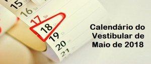 Calendário do Vestibular de Maio de 2018 por Vestibular1