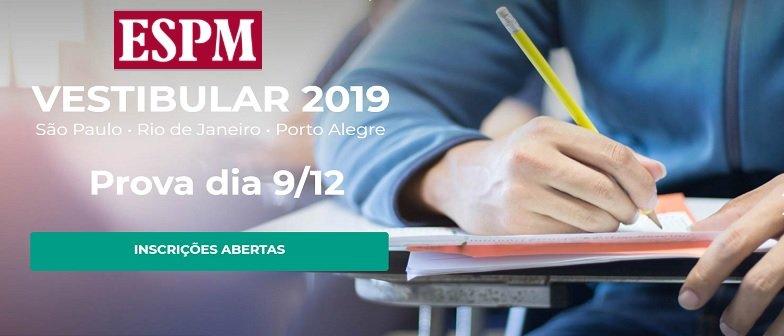 ESPM-RIO abre inscrições para vestibular 2019 em Vestibular1