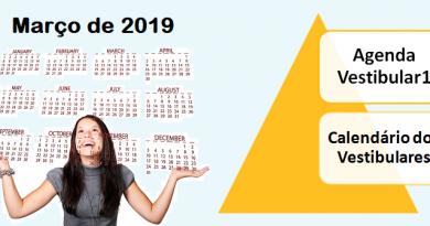 Agenda do Vestibular de Março e Calendário de vestibulares por Vestibular1
