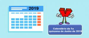 Calendário de vestibular da 1a quinzena de Junho de 2019 por Vestibular1