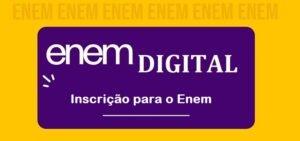 Enem digital - Inscrição para o Enem